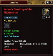 Sensei's Skullcap of the Fightmaster