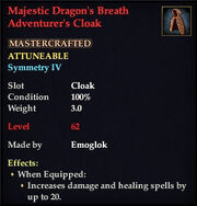Majestic Dragon's Breath Adventurer's Cloak