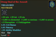 Droag stud of the assult