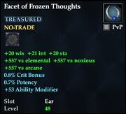 Facet of Frozen Thoughts
