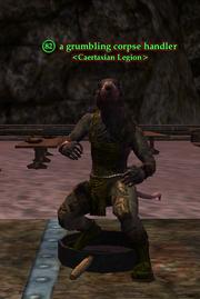 A grumbling corpse handler