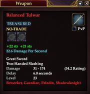 Balanced Tulwar