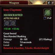 Iron Claymore