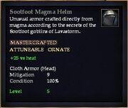 Sootfoot Magma Helm