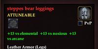 Steppes bear leggings