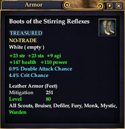 Boots of the Stirring Reflexes