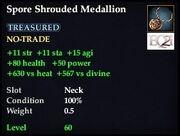Spore Shrouded Medallion