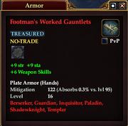 Footman's Worked Gauntlets