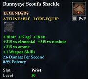 Runnyeye Scout's Shackle