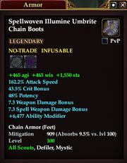 Spellwoven Illumine Umbrite Chain Boots