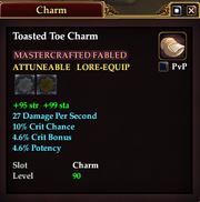 Toasted Toe Charm