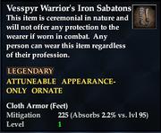 Vesspyr Warrior's Iron Sabatons