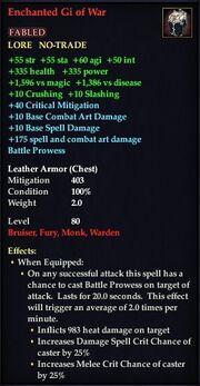 Enchanted Gi of War