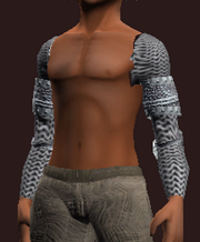 Forged Feyiron Chainmail Mantle (Equipped)