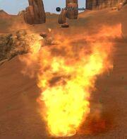 A flame tornado