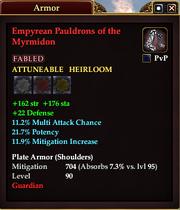 Empyrean Pauldrons of the Myrmidon