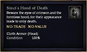 Sinci's Hood of Death