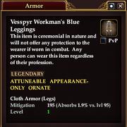 Vesspyr Workman's Blue Leggings