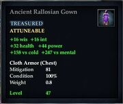 Ancient Rallosian Gown