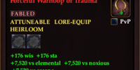Forceful Warhoop of Trauma