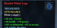 Beaded Water Legs