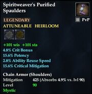 Spiritweaver's Purified Spaulders