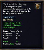 Tunic of Militia Loyalty