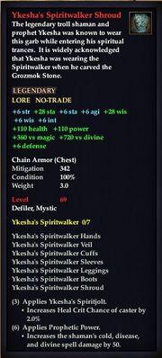 Ykesha's Spiritwalker Shroud
