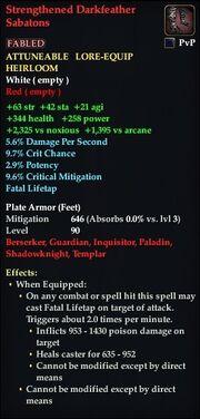 Strengthened Darkfeather Sabatons