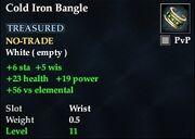 Cold Iron Bangle