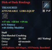 Dirk of Dark Bindings