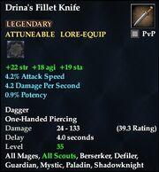 Drina's Fillet Knife