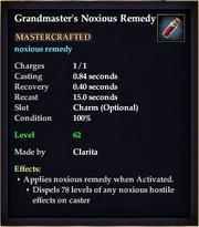 Grandmaster's Noxious Remedy