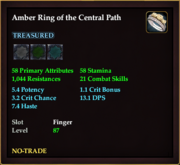 Amber Ring of the Central Path