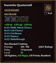 Fearstrike Quarterstaff