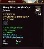 Heavy Silver Shackle of the Scions