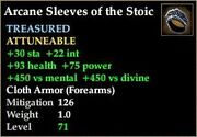 Arcane Sleeves of the Stoic
