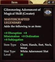 Glimmering Adornment of Magical Skill (Greater)