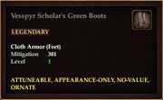 Vesspyr Scholar's Green Boots