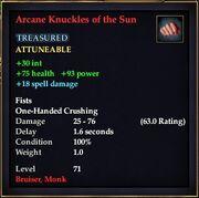Arcane Knuckles of the Sun