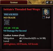 Initiate's Threaded Foot Wraps