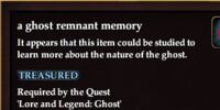 A ghost remnant memory
