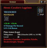 Heroic Cavalier's Legplates