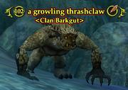 A growling thrashclaw