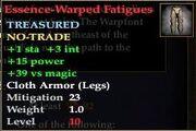 Essence-Warped Fatigues