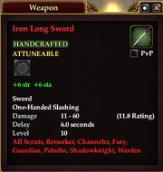 Iron Long Sword