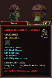 Martial Bog Leather Head Wrap