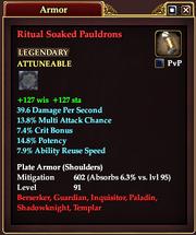 Ritual Soaked Pauldrons