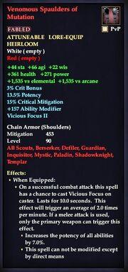 Venomous Spaulders of Mutation
