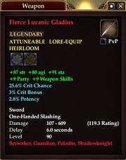 Fierce Lucanic Gladius